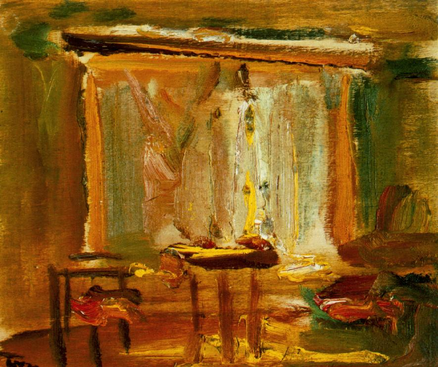 Interior with Curtained Window 1929 | Janos Tornyai | Oil Painting