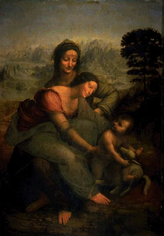 The Virgin And Child With St Anne 1509 | Leonardo Da Vinci | Oil Painting