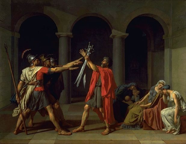 The Oath Of The Horatii 1785 | Louis David | Oil Painting
