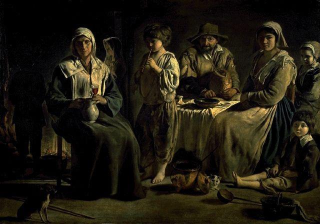 The Peasant Family Circa 1640-1645 | Louis Or Antoine Le Nain Circa | Oil Painting