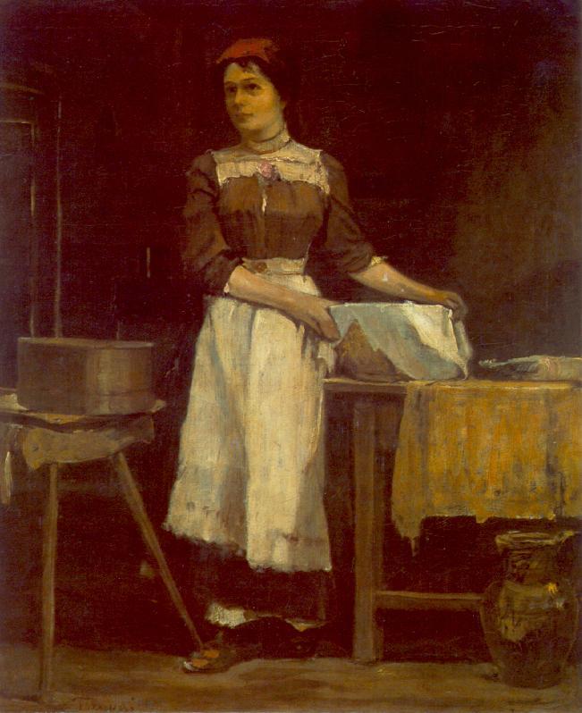 Bolting Girl c 1900 | Janos Tornyai | Oil Painting