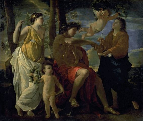 The Inspiration Of The Poet Circa 1630 | Nicolas Poussin | Oil Painting