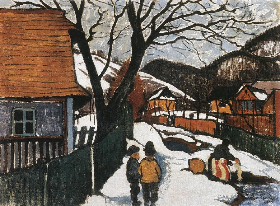 Village at Winter 1910 | Sandor Ziffer | Oil Painting