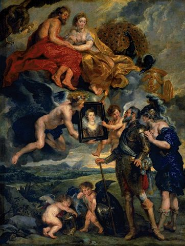 Presentation To Henri IV Of The Portrait Of Marie De Medici 1621-1625 | Peter Paul Rubens | Oil Painting