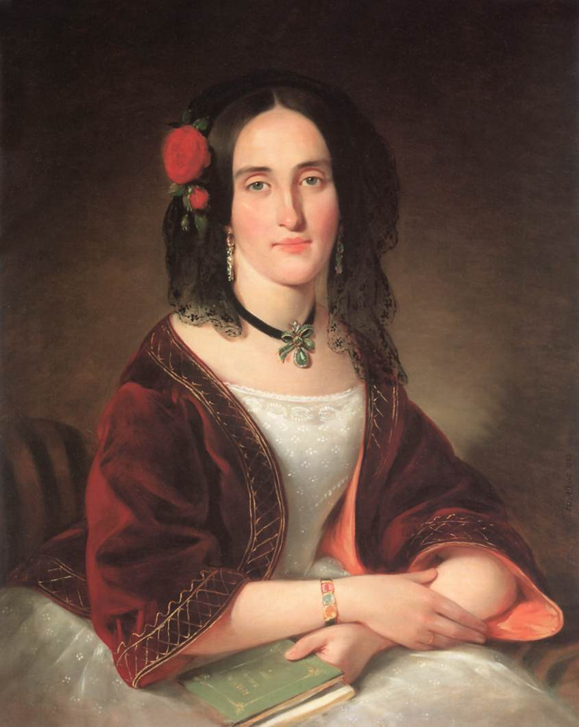 Portrait of Ms Ignacne Giergl nee Maria Lockheimer 1843 | Alber Tikos | Oil Painting