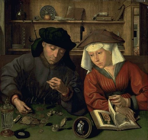 The Banker And His Wife 1514 | Quentin Metsys | Oil Painting