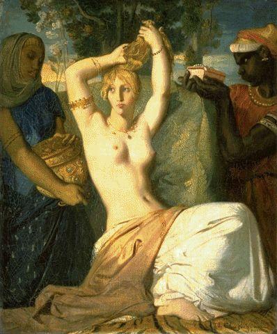 Esther Preparing Herself To Meet King Ahasuerus 1841 | Theodore Chasseriau | Oil Painting