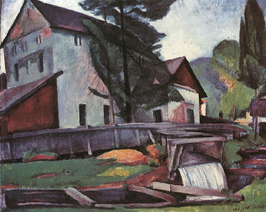 Watermill 1923 | Sandor Ziffer | Oil Painting