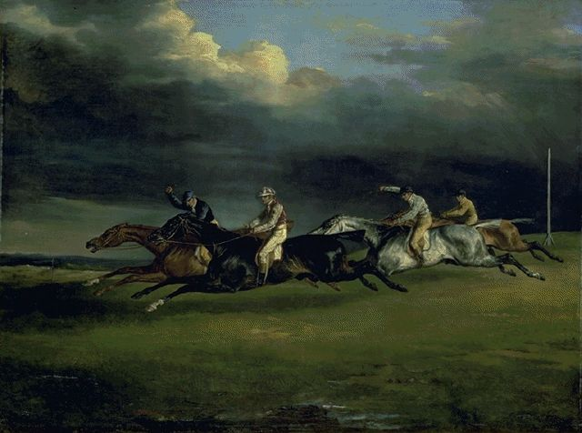 Horse Race Known As The 1821 Epsom Derby 1821 | Theodore Gericault | Oil Painting