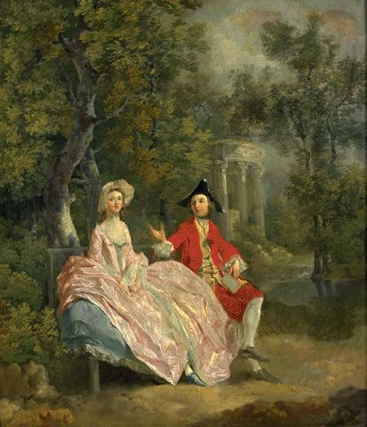 Lady And Gentleman In A Landscape Circa 1746-1747 | Thomas Gainsborough | Oil Painting