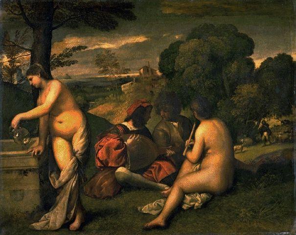 Concert Champetre Circa 1510 | Tiziano Vecellio | Oil Painting