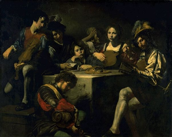Concert With An Antique Bas-Relief Circa 1622-1625 | Valentin De Boulogne | Oil Painting