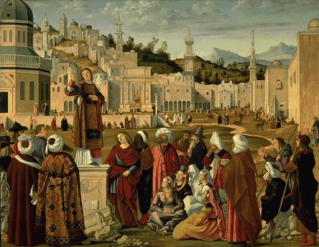 The Sermon Of St. Stephen In Jerusalem Circa 1514 | Vittore Carpaccio Circa | Oil Painting