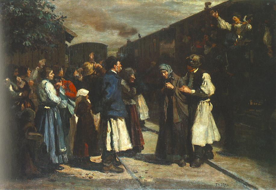 The First of October 1903 | Janos Thorma | Oil Painting