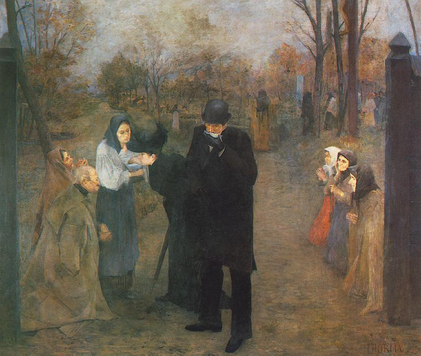 Suffering People 1892 | Janos Thorma | Oil Painting