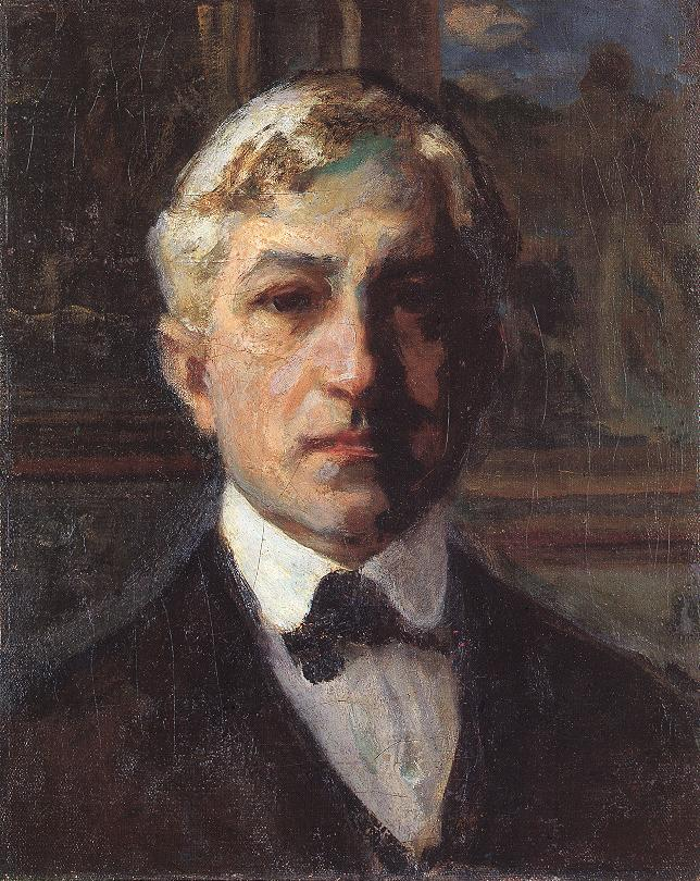 Selt portrait c 1910 | Janos Thorma | Oil Painting