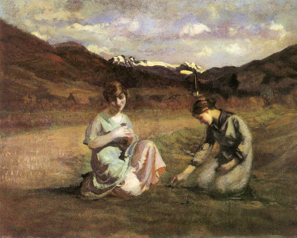 Picking Violet 1920 | Janos Thorma | Oil Painting