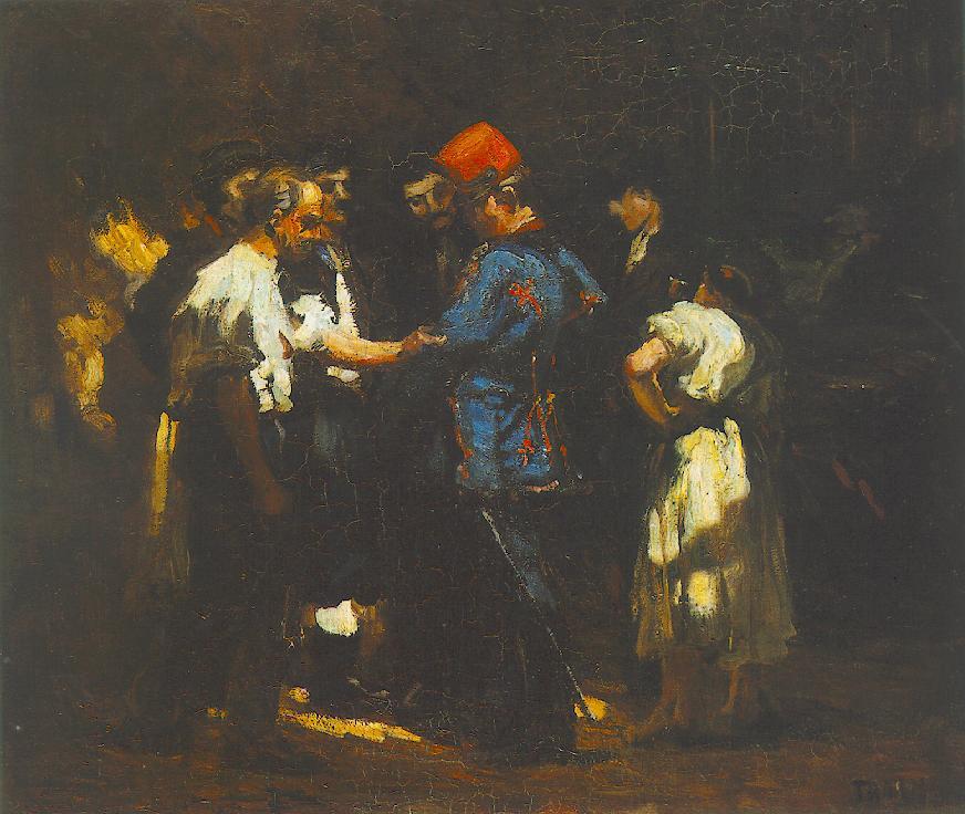 Amongst Coachmen 1902 | Janos Thorma | Oil Painting