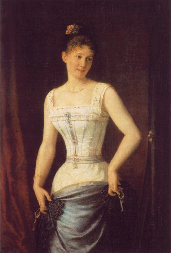 Woman with Silk Corset 1891 | Mor Than | Oil Painting