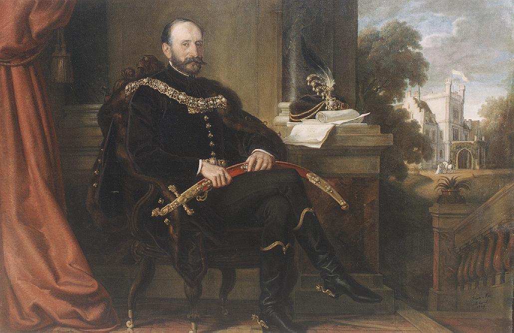 Portrait of Baron Ede Mikos 1869 | Mor Than | Oil Painting