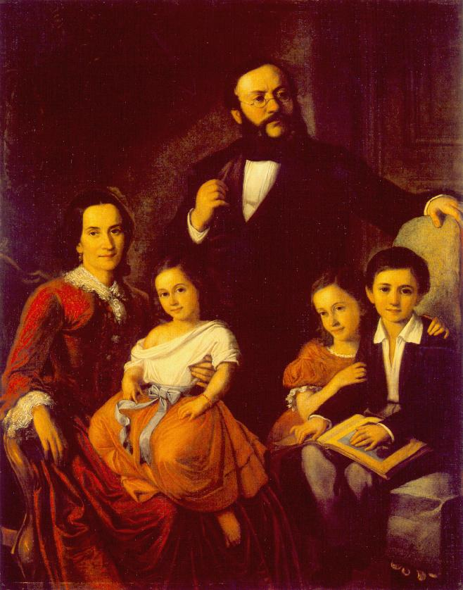 Portrait of a Family 1855 | Mor Than | Oil Painting