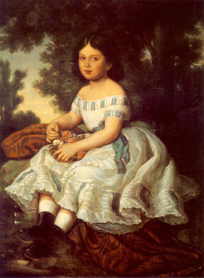 Girl in the Garden 1863 | Mor Than | Oil Painting
