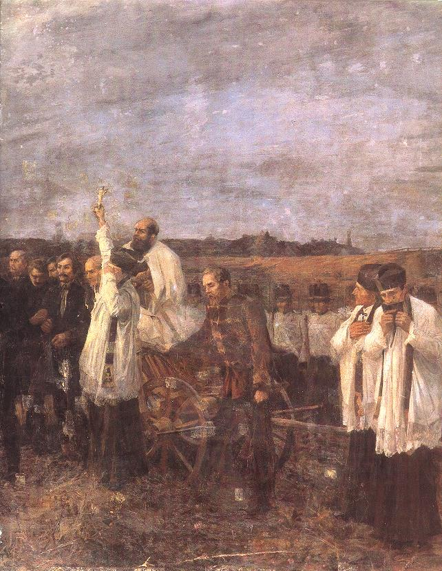 The Martyrs of Arad (Sixth of October), detail right view 1893 96