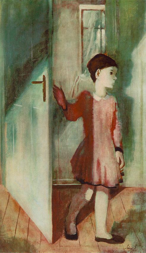 Zsuzsa at the Door 1931 | Istvan Szonyi | Oil Painting
