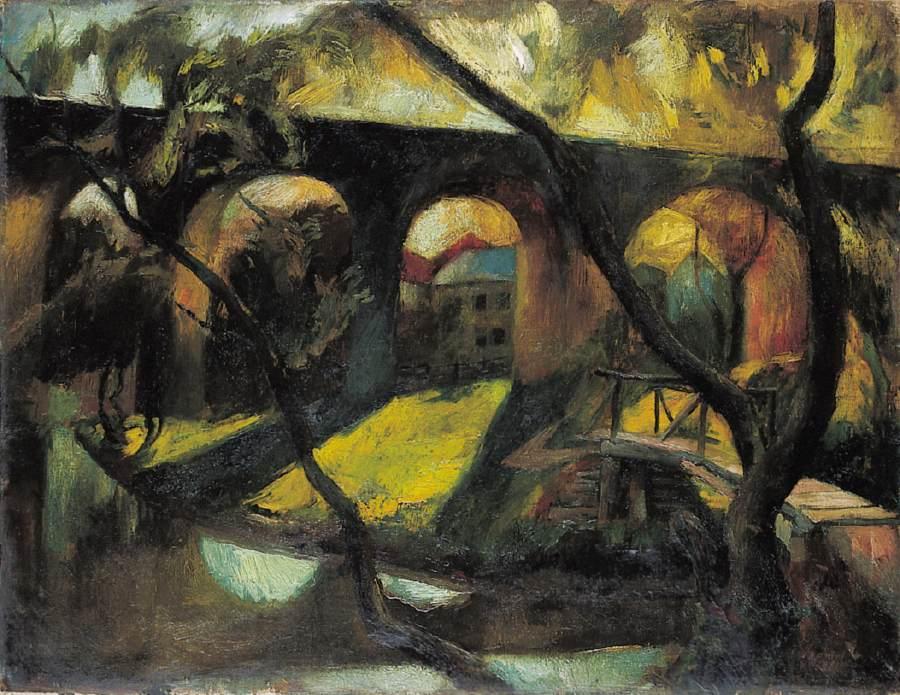 Viaduct 1924 | Istvan Szonyi | Oil Painting