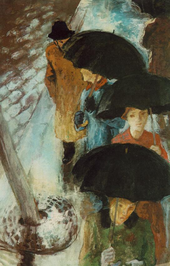 Umbrellas 1939 | Istvan Szonyi | Oil Painting