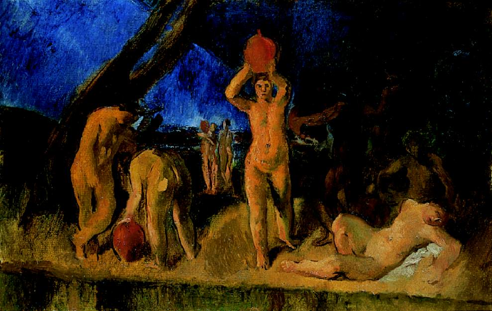 Study for Danaidae (Nudes Fetching Water) 1922 | Istvan Szonyi | Oil Painting