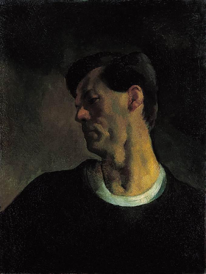 Self portrait 1921   Istvan Szonyi   Oil Painting