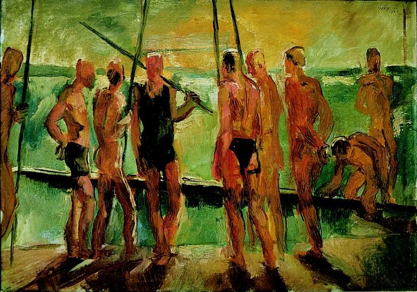 Rowers (Sketch) 1927 | Istvan Szonyi | Oil Painting