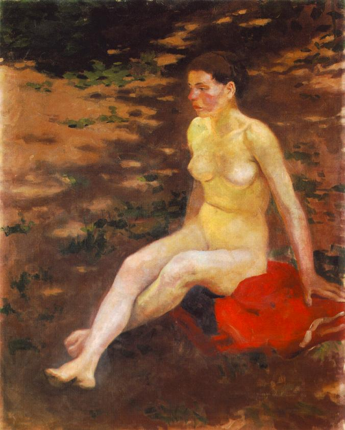 Nude in the Garden 1914 | Istvan Szonyi | Oil Painting