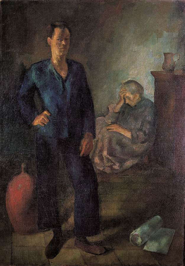 My Mother and I 1923 | Istvan Szonyi | Oil Painting