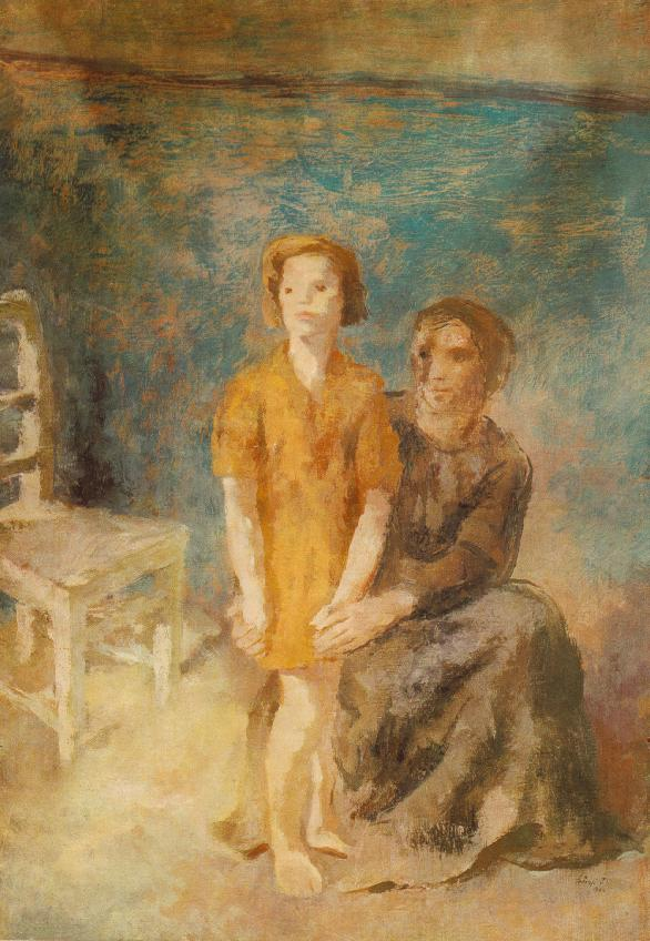 Mother and Daughter 1944 | Istvan Szonyi | Oil Painting