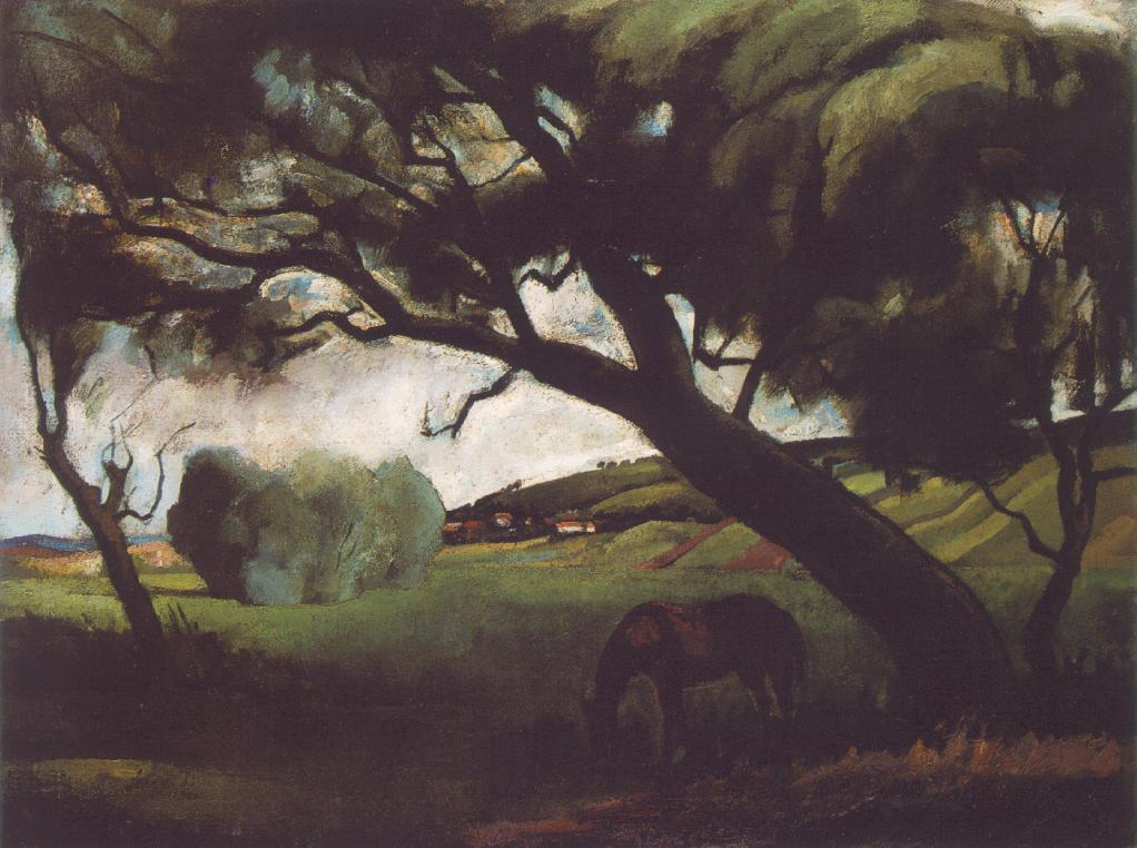 Landscape with Horse 1920 | Istvan Szonyi | Oil Painting
