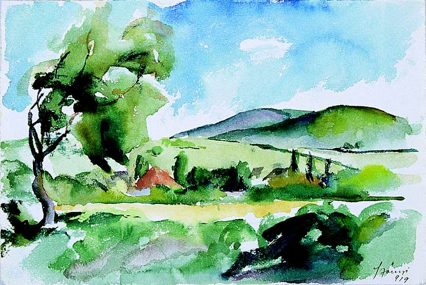 Landscape 1919 | Istvan Szonyi | Oil Painting