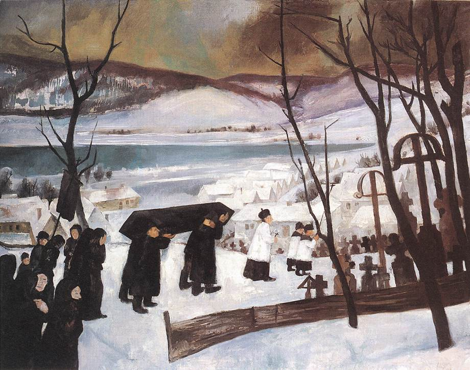 Funeral at Zebegeny 1928 | Istvan Szonyi | Oil Painting