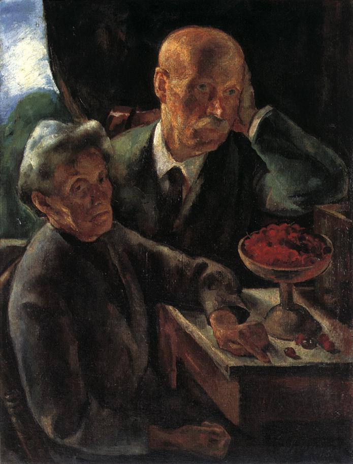 Elderly Couple (The Artist's parents) 1920 | Istvan Szonyi | Oil Painting