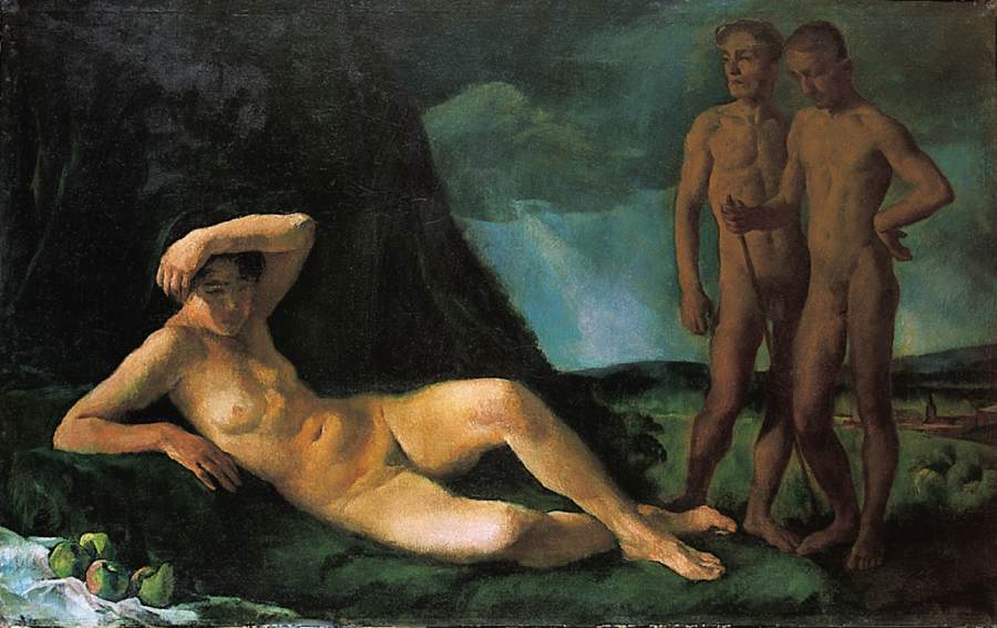 Composition with Nudes 1919 | Istvan Szonyi | Oil Painting