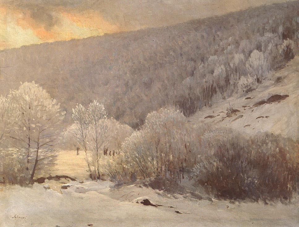Winter between 1901 and 1905 | Pai Merse Szinyei | Oil Painting