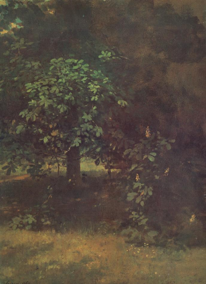 Study of a Horse Chestnut Tree 1869 | Pai Merse Szinyei | Oil Painting