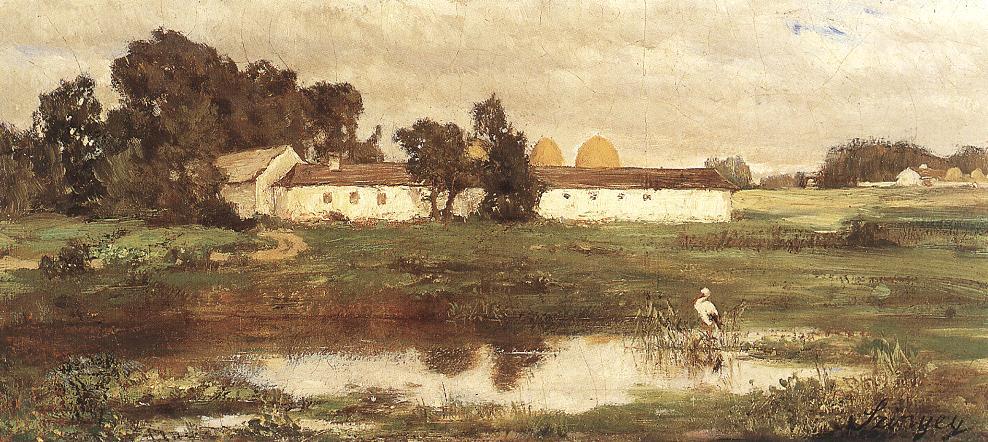 Puszta with Stork 1870 | Pai Merse Szinyei | Oil Painting
