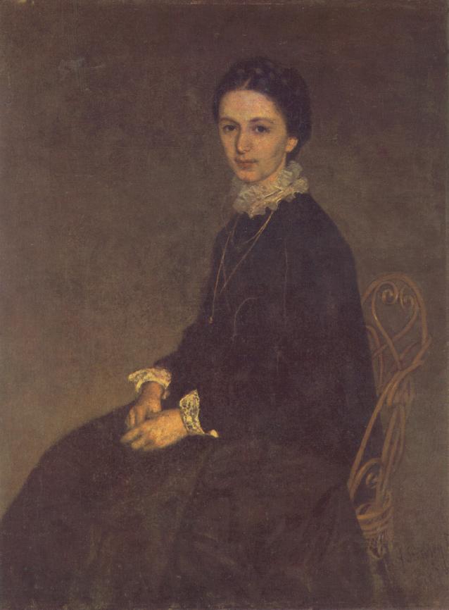Portrait of Ninon Szinyei Merse 1870 | Pai Merse Szinyei | Oil Painting