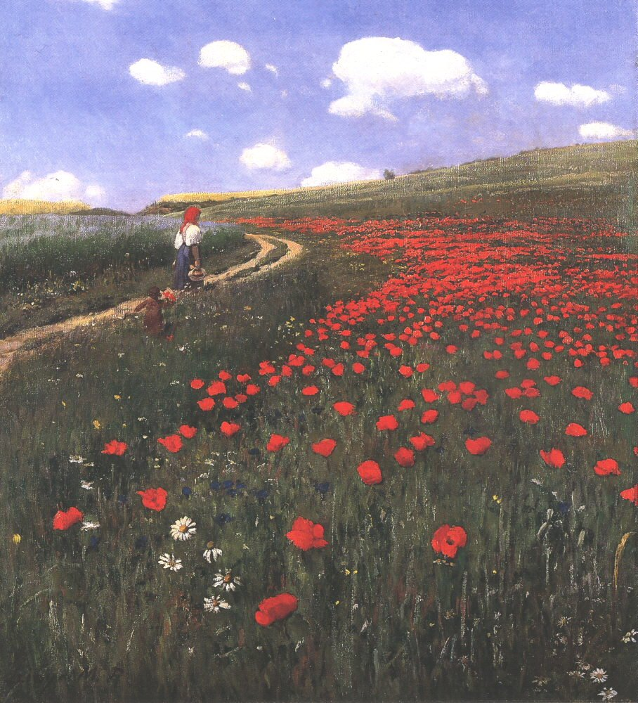 Poppies in the Field 1902 | Pai Merse Szinyei | Oil Painting
