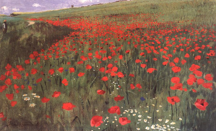 Poppies in the Field 1896 | Pai Merse Szinyei | Oil Painting