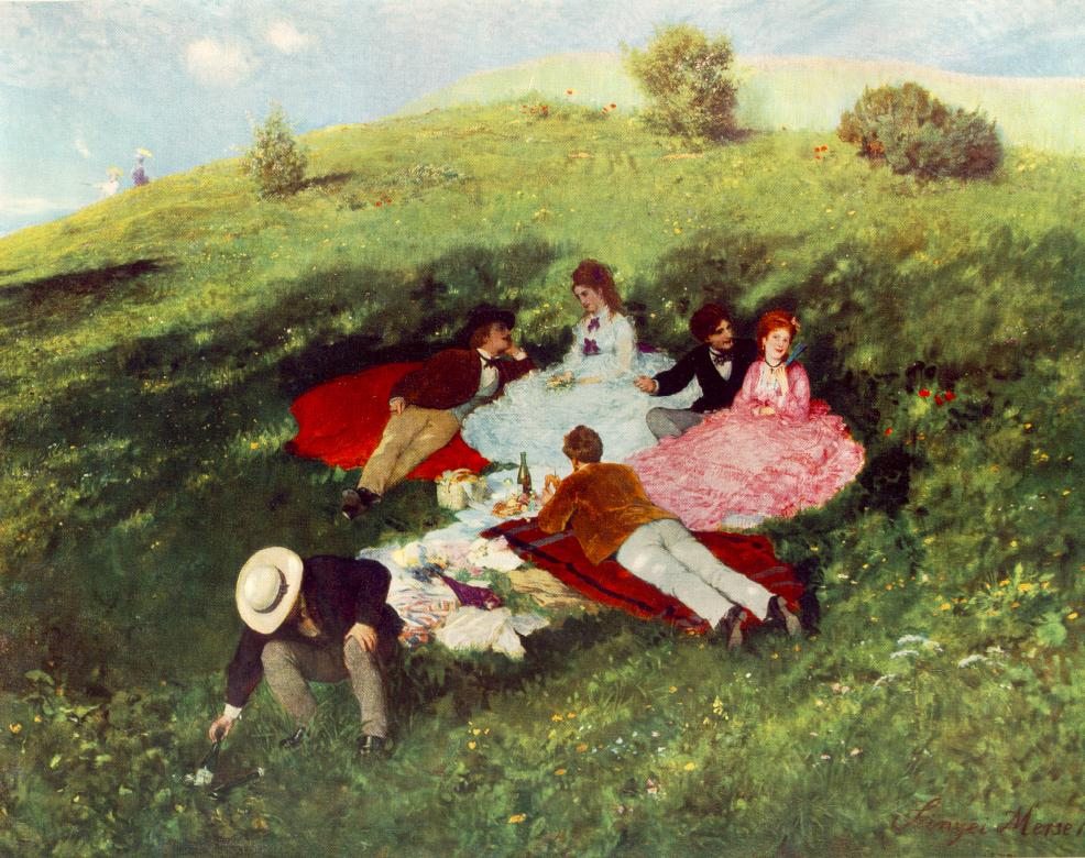 Picnic in May 1873 | Pai Merse Szinyei | Oil Painting