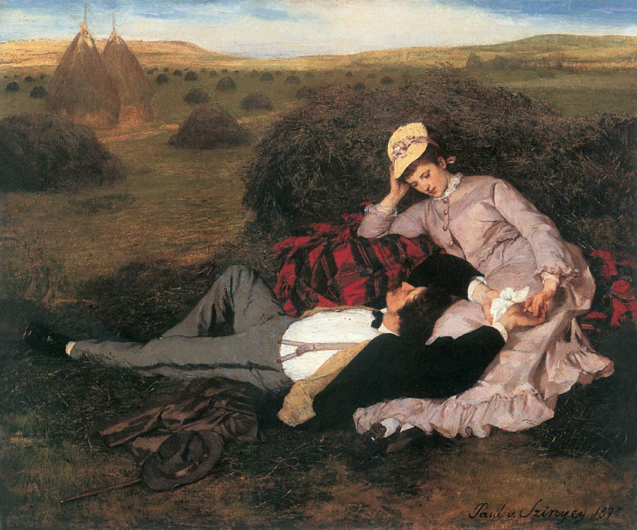 Lovers 1869 2 | Pai Merse Szinyei | Oil Painting