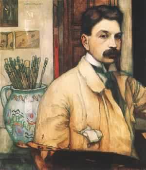 Self-portrait 1910 | Istvan Zador | Oil Painting